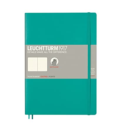Leuchtturm 1917 - Cuaderno de tapa blanda, color Smaragd Composition (B5)
