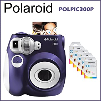 Polaroid 300 Instant Camera Violet + 5 packs Polaroid Instant film ... 38b9c959be90