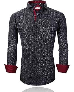74d6ca8b7088c Rabrgab Mens Dress Shirts - Long Sleeve Regular Fit Non Iron Spread Collar  Solid Casual Shirts