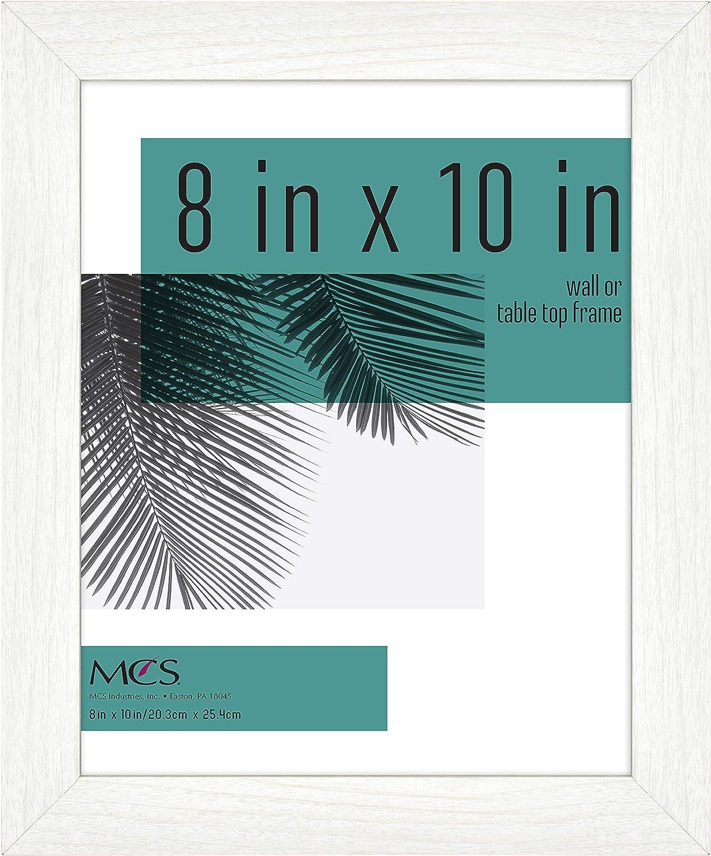 MCS Industries Inc 63703 8x10 Inch Studio Gallery, White Woodgrain Frames, 8x10
