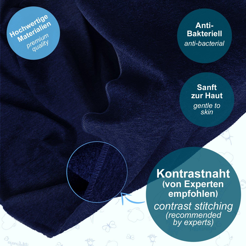 Makimaja - Portabebés hecho de algodón 100% - azul marino - portabebés de alta calidad para recién nacidos y bebés hasta 15 kg - incluye bolsa para ...