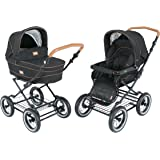 Roan Kortina Luxury Edition Classic Pram Stroller 2-in-1 with Bassinet and Seat (graphite)