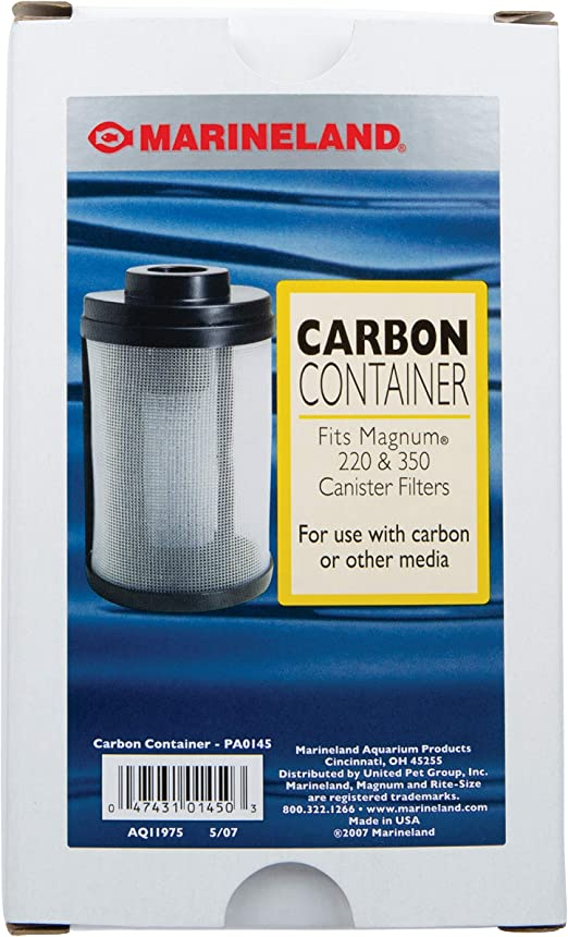 Amazon.com : Marineland PA0145 Magnum Carbon & Media Container, 1-Pack : Marineland Carbon Container : Pet Supplies