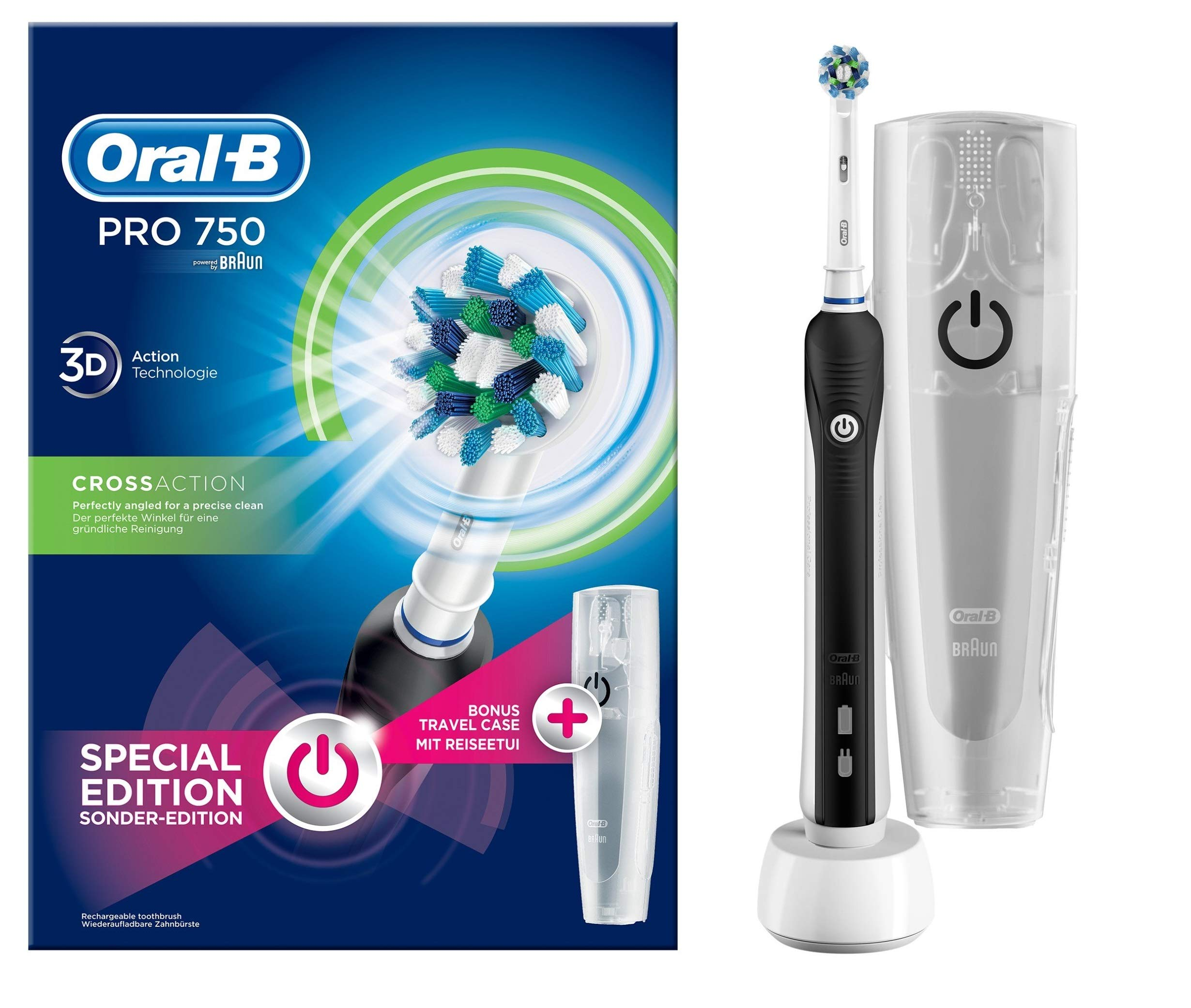 Oral-B PRO 750 CrossAction Cepillo de Dientes Eléctrico Recargable Pack Regalo product image
