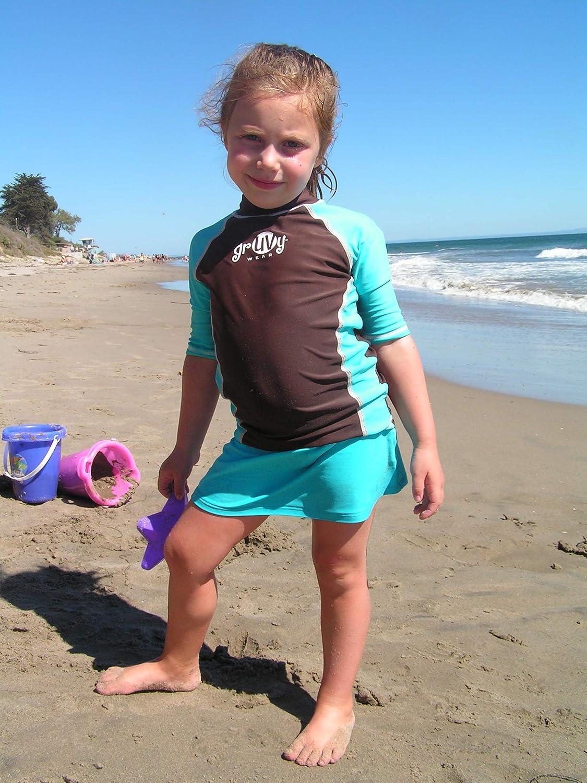 grUVywear Boys Rashguard Girls Swim Shirt UPF 50 Kids Sun Protective Swimwear
