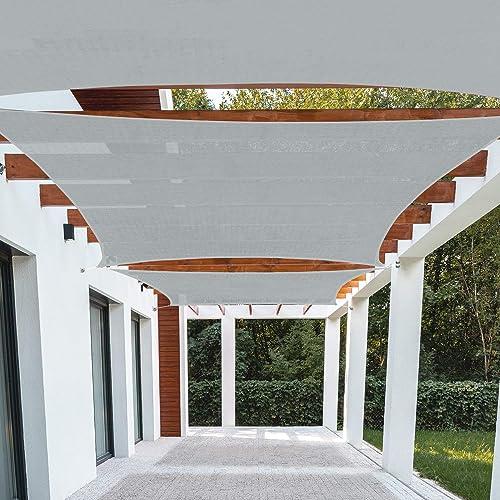 Patio Paradise 23' x 24' FT Light Grey Sun Shade Sail Rectangle Square Canopy