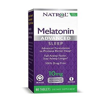 Natrol Melatonin Advanced Sleep Tablets with Vitamin B6, Helps You Fall  Asleep Faster, Stay Asleep
