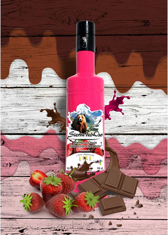 Sierra del Oso Crema de Fresas con Chocolate, 6 botellas: Amazon.es: Alimentación y bebidas