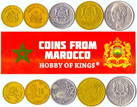 5 Monedas Diferentes - Moneda extranjera marroquí Vieja y Coleccionable para coleccionar Libros - Conjuntos únicos de Dinero Mundial - Regalos para coleccionistas: Amazon.es: Juguetes y juegos