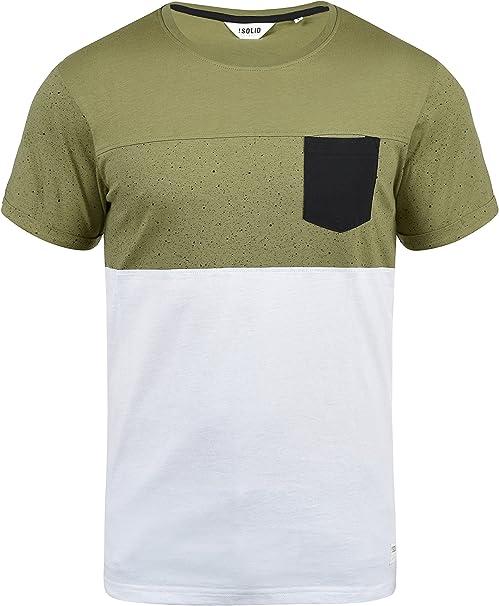 Solid Kold Camiseta De Rayas Básica De Manga Corta para Hombre con ...