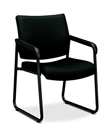 hon guest chairs. HON Guest Chair - Office With Padded Fixed Arms, Black (HVL443) Hon Chairs 1