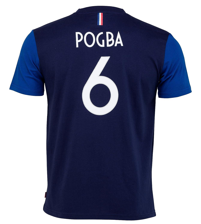 Selección de Fútbol de Francia FFF - Paul Pogba - Camiseta Oficial para Niño, Niños, Azul, 8 Años: Amazon.es: Deportes y aire libre