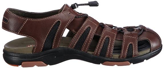Clarks Un Dock 20348474, Herren SandalenFashion Sandalen, Braun (Ebony Leather), EU 41 (UK 7)