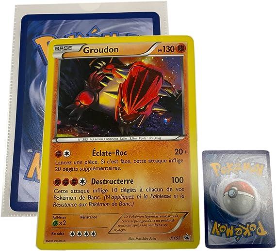 Carte Pokemon Format Géant Groudon 130 Pv Holo Rare Version