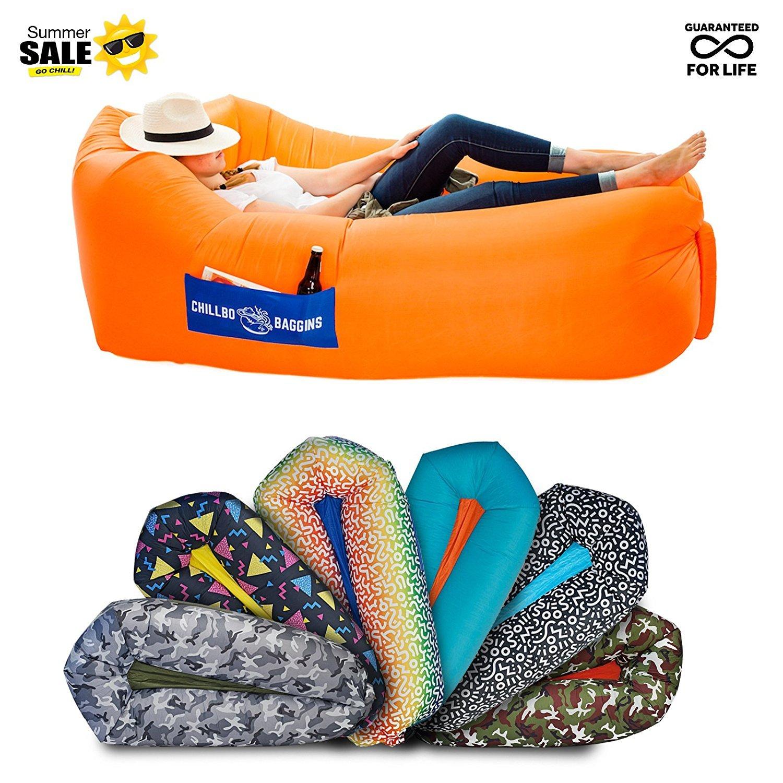 [Chillbo] [キャンプ場とフェスティバルバルーンラウンジ Baggins 2.0 Best Balloon Recliner Ideal Summer Gift Air Lounge for Indoor] (並行輸入品) B07DXL6ZPF One Size Orange Orange One Size