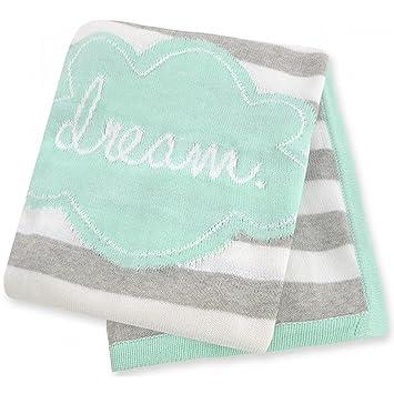 686638f47 Amazon.com   Just Born Jacquard Sweater Knit Blanket - Dream   Baby