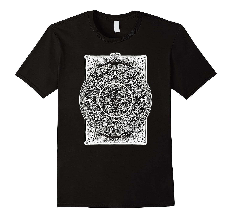 Aztec Calendar T-Shirt, Mexica Calendar Graphic Tee-FL