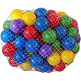 "My Balls by CMS Pack of 100 pcs Phthalate Free, BPA Free 2.5"" Plastic Ball Pit Balls in 5 Bright Colors"