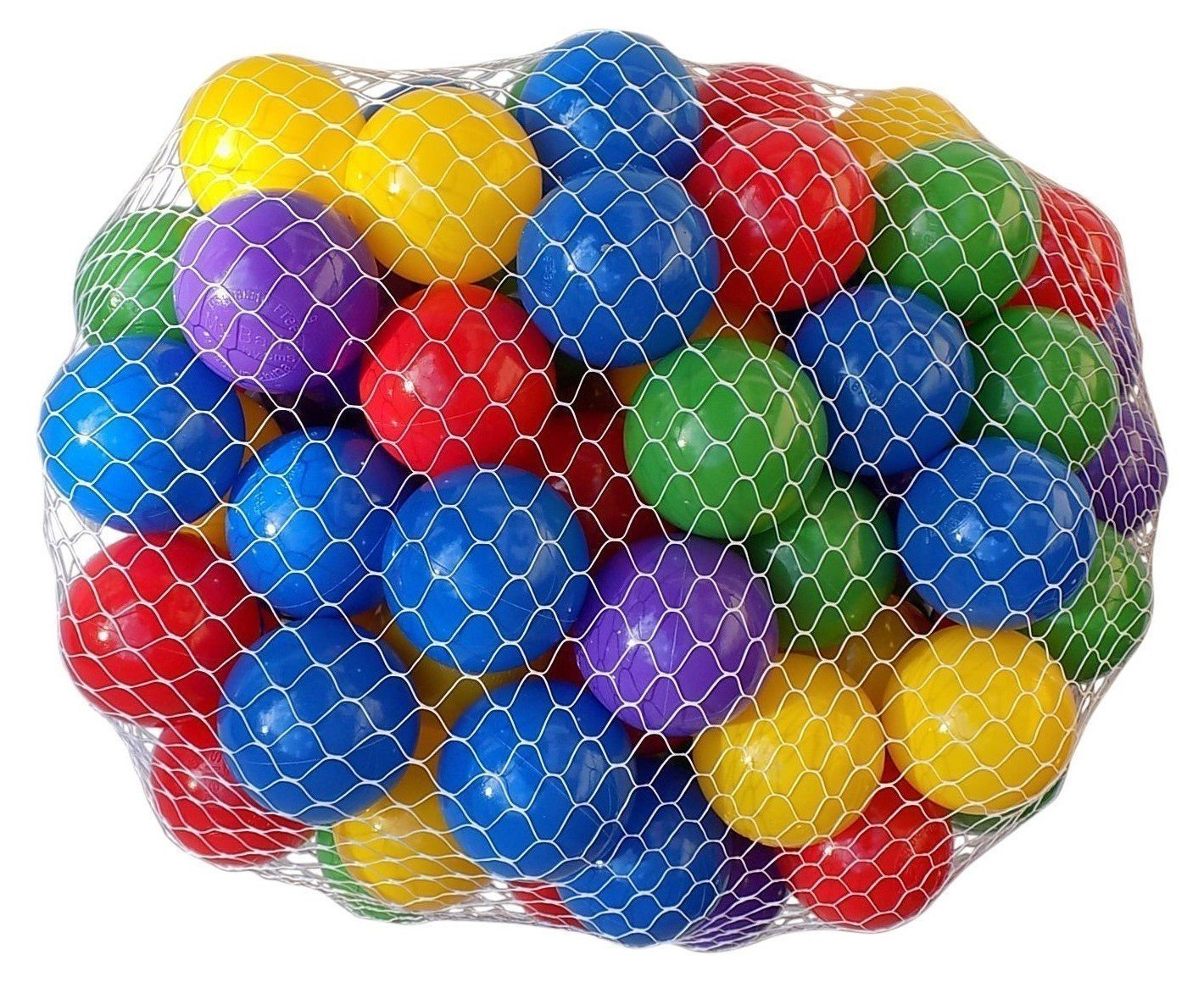 My Balls Pack of 200 Large 2.5 65mm Ball Pit Balls in 5 Bright Colors - Crush-Proof Air-Filled; Phthalate Free; BPA Free; Non-Toxic; Non-PVC; Non-Recycled Plastic (Pack of 200) CMS