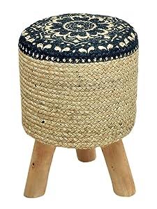casamia - Taburete con Patas de Madera (35 cm de diámetro, 45 cm de Altura)