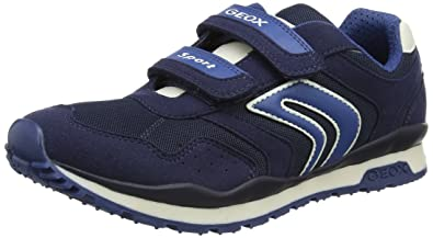 Geox Pavel A, Sneakers Basses Garçon, Bleu (Navyc4002), 24 EU