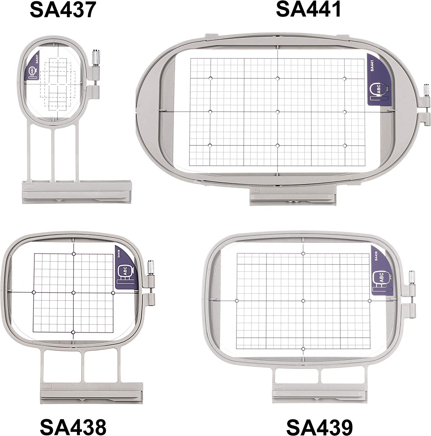 4in1-B Set SewTech Embroidery Hoops for Brother Innovis NQ1600E NQ1400E NQ3600D Dream Machine 2 VE2200 4000D 1500D V7 V5 VM5200 Babylock Embroidery Machine Hoop