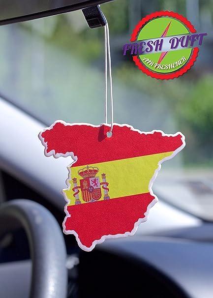 Amazon.es: Ambientadors de coche 10 unidades bandera de España en ...