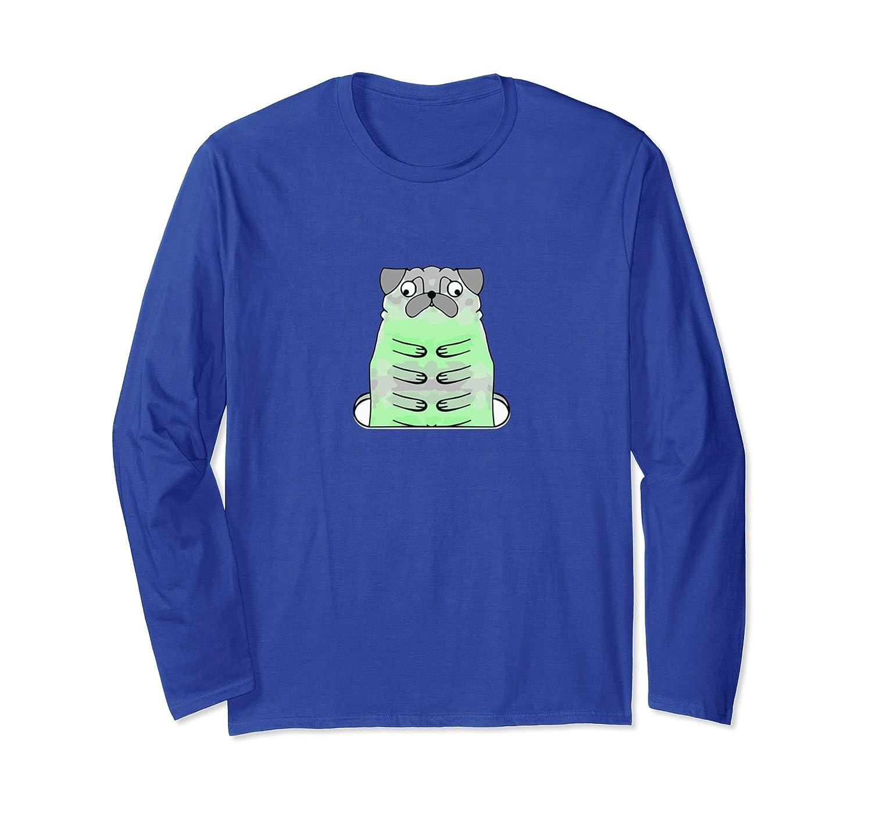 Puggerpillar Pug Long Sleeve Shirt-AZP