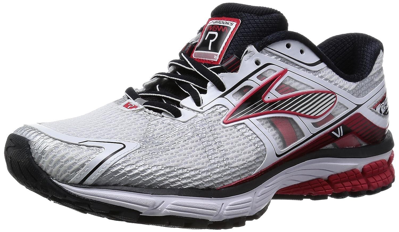 Brooks - Zapatos para Hombre 40.5 EU|White/Hr Red/Blk