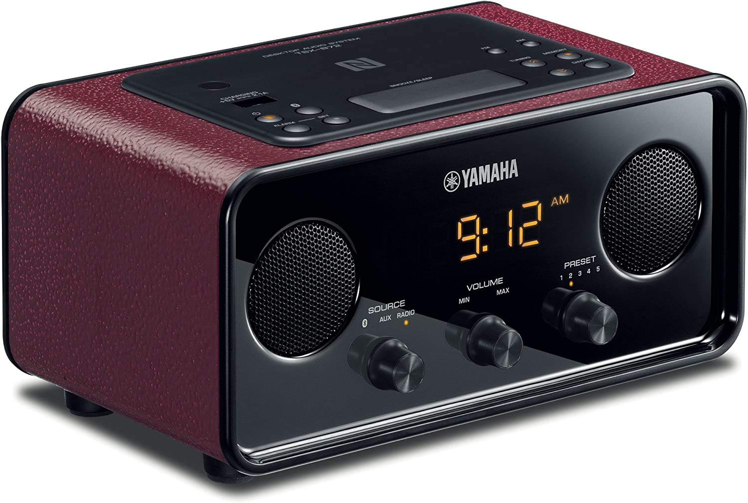 Yamaha TSX-B72DR Desktop Audio System (Dark Red)