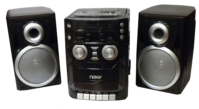 Naxa NPB-426 CD//Radio//Cassette//Aux with Detachable Speakers
