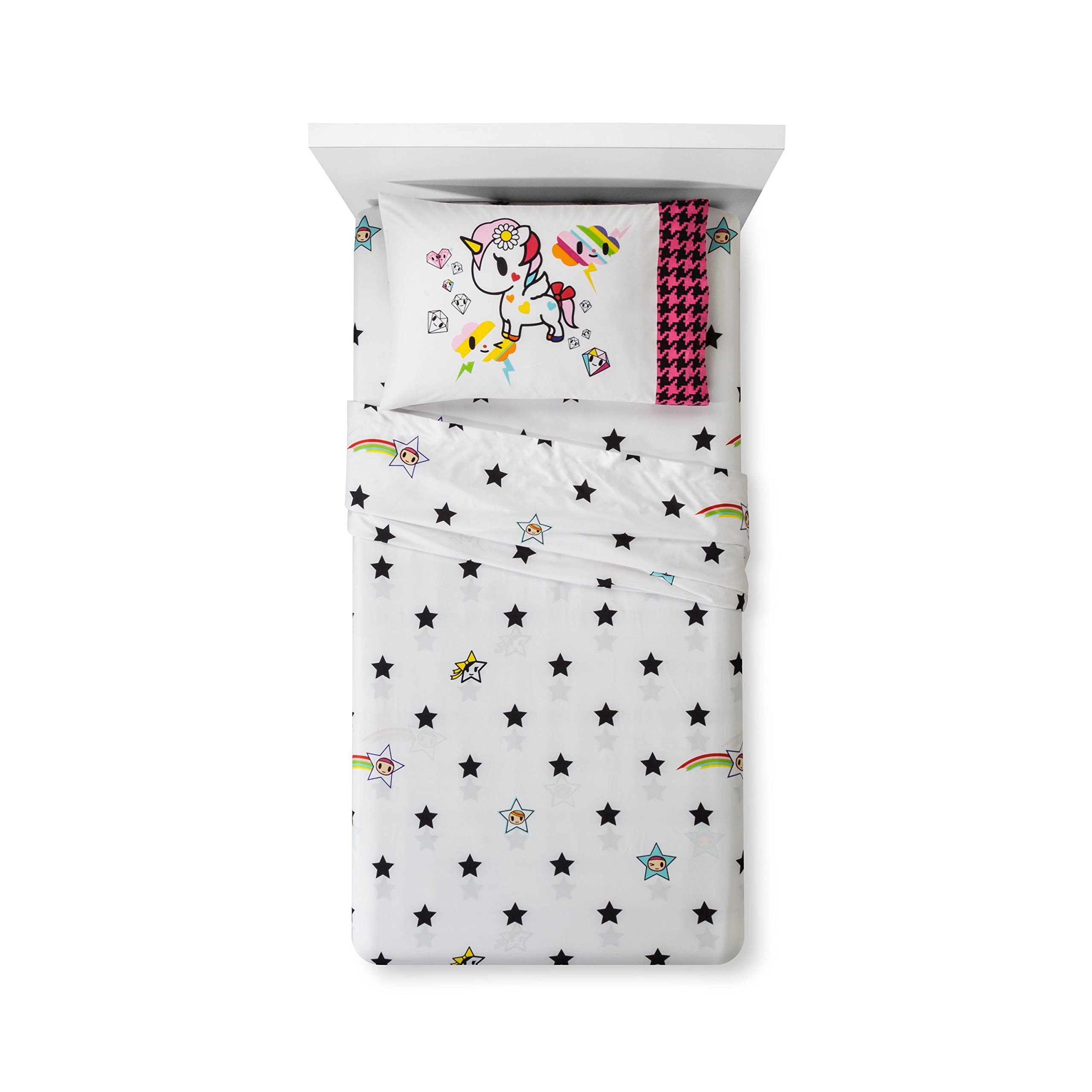 Neonstar by Tokidoki I Love Unicorns 4pc Bedding Set Comforter + Sheets (Twin Size) by Jay Franco (Image #3)