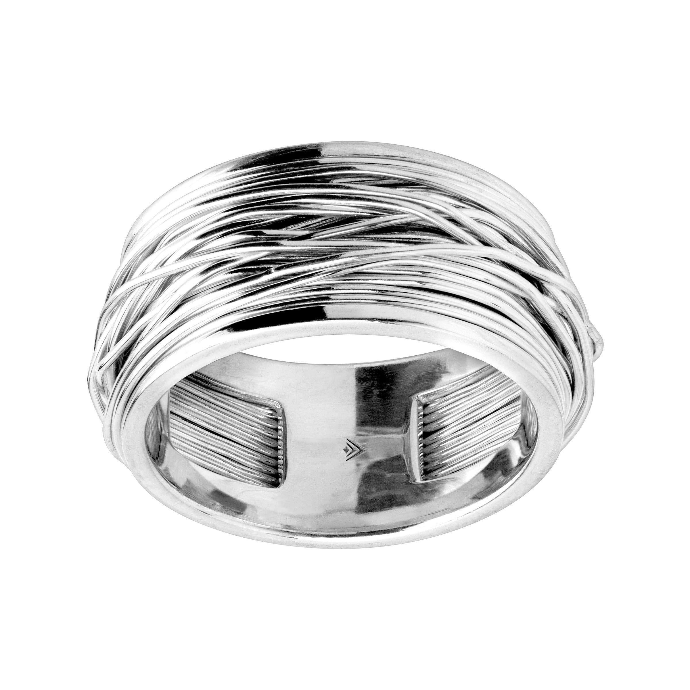 Silpada 'Aegean' Crisscross Band Ring in Sterling Silver