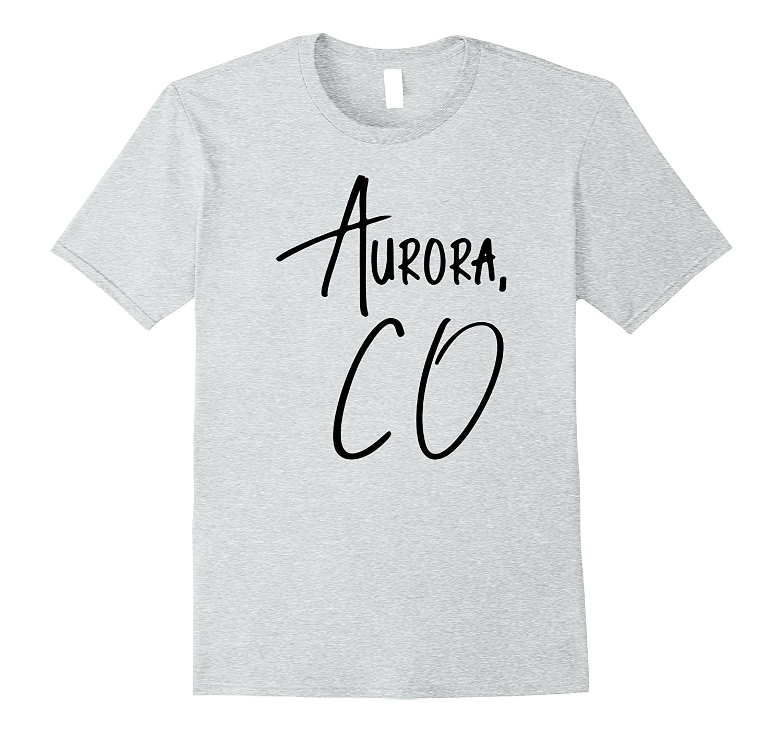 Aurora Colorado USA American City T-Shirt Black-CD