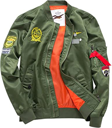 2018 MA1 Mens Army Pilot Biker Bomber Fly Military Security embroidery Jacket
