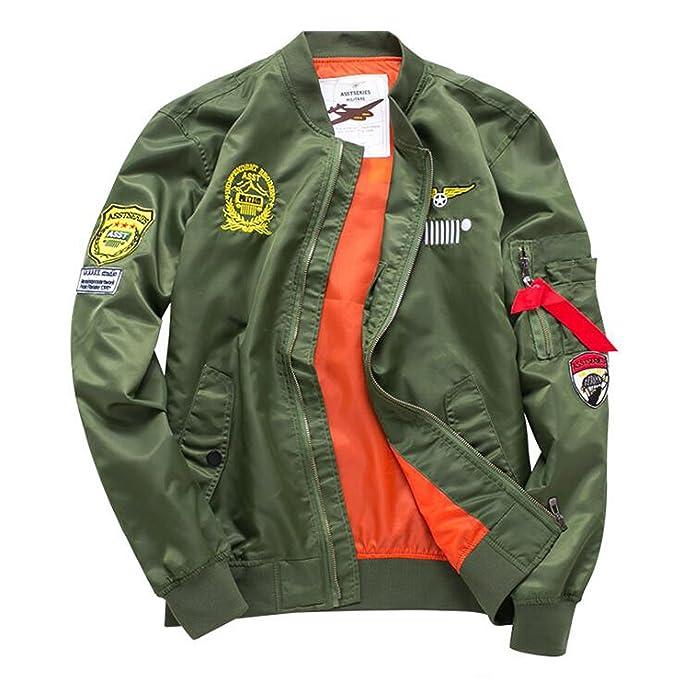 Amazon.com: vmanner Bomber chaquetas para hombre Classic MA ...