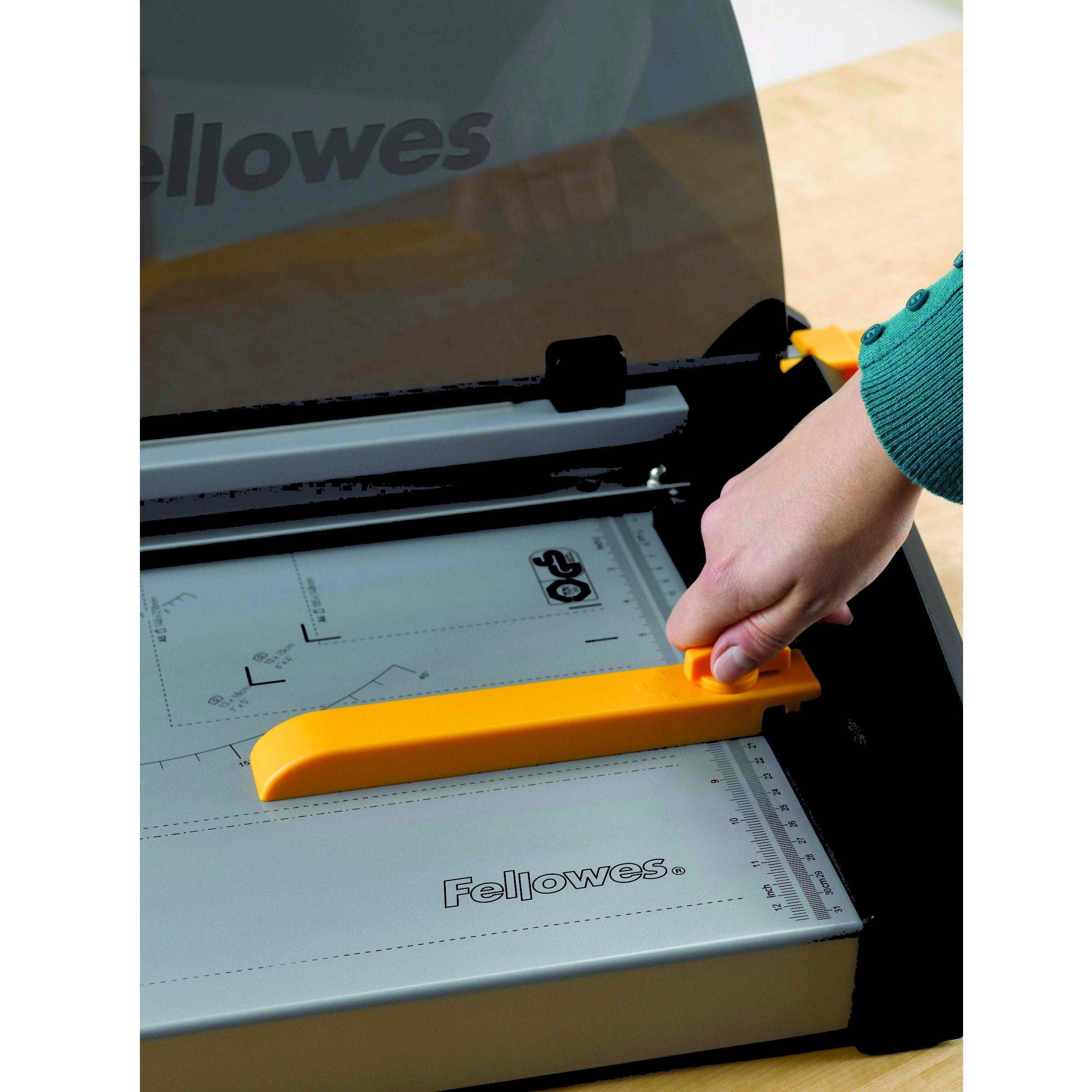 Fellowes Plasma 180 Paper Cutter, Black/Silver (5411102)