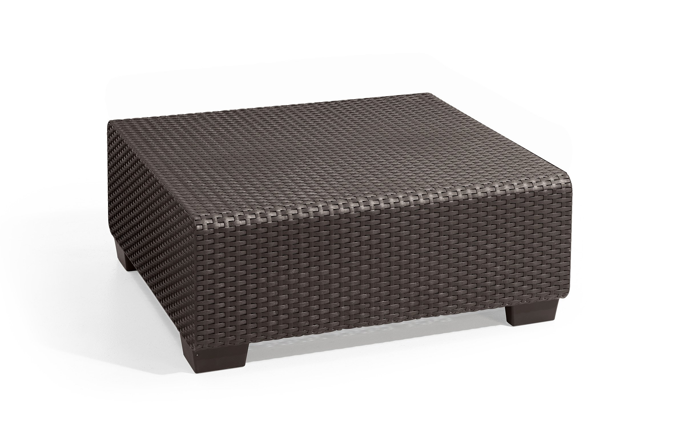 Keter Sapporo Modular Coffee Table Modern All Weather Outdoor Patio Garden Backyard Furniture, Rich Brown by Keter