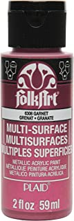 product image for FolkArt Multi-Surface Metallic Paint in Assorted Colors (2 oz), Metallic Garnet
