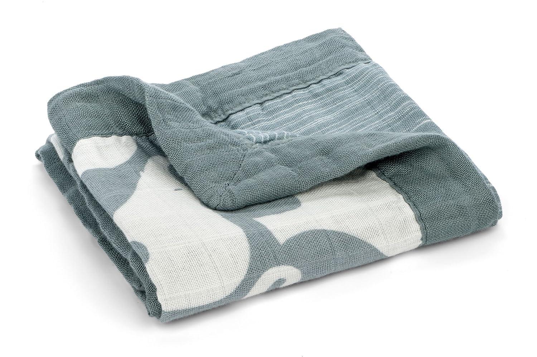 Blue Elephant Milkbarn Organic Cotton Mini Lovey Blanket