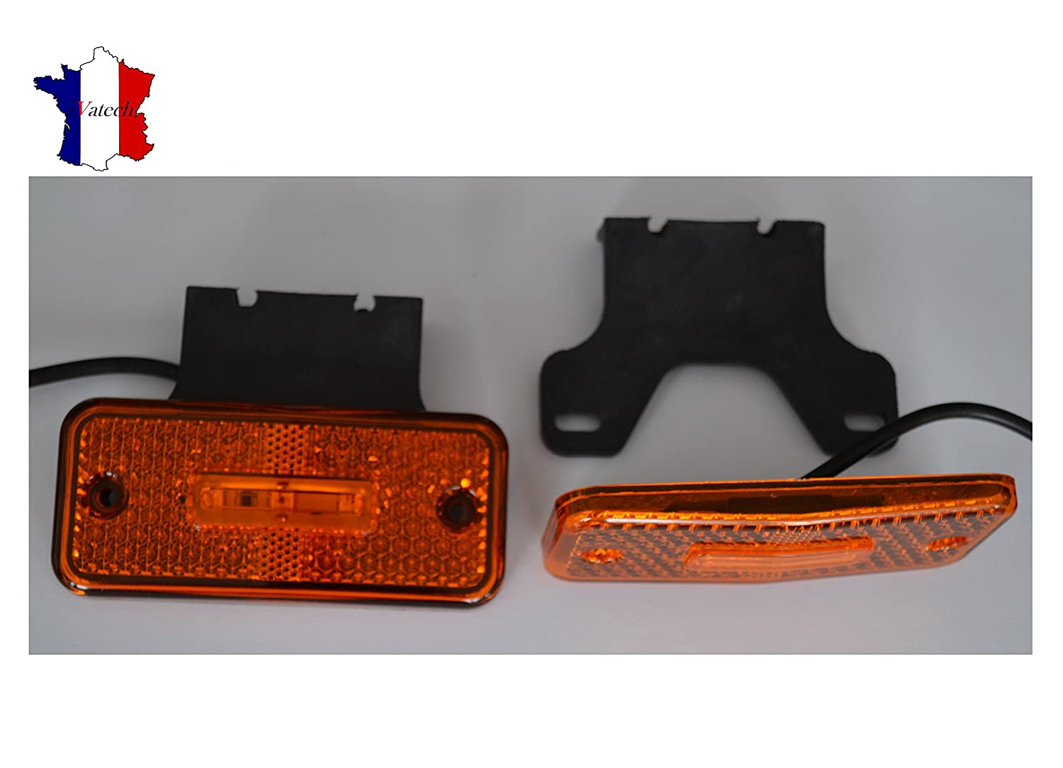 2 X 12V 3 LED FEUX DE POSITION/GABARIT ORANGE CAMION REMORQUE BUS VAN SHASSIS SIALENI