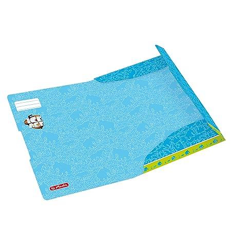 24x32 cm Blu Exacompta 56407E Cartelle con Alette