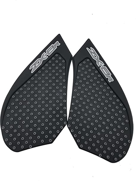 Red Traction Tank Side Pad Gas Knee Grips For Kawasaki ZX6R ZX-6R 2007-2008 BK