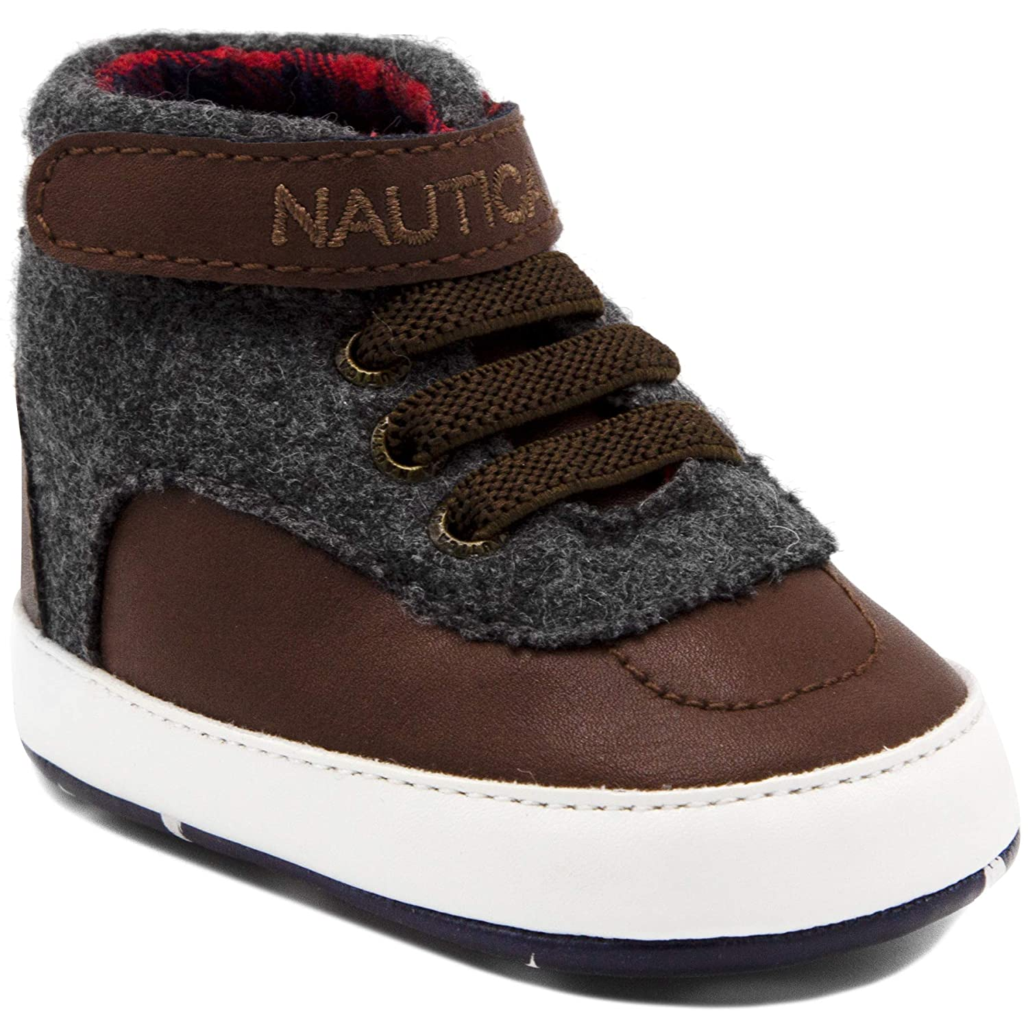 Crib Sneakers Bootie,Toddler//Infant Soft Sole Shoes Nautica Tiny Boot Like High-Top Baby Prewalker