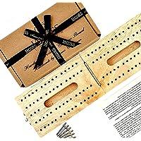 Jaques of London Vikbar cribbage bräda inga kort cribbage bräda | Premium cribbage | Fantastiska brädspel | Perfekt…