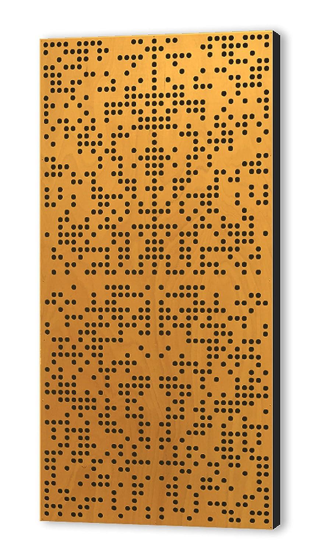 Binary Difuser 122x61x10 by Addictive Sound Akustikdiffusor, Akustikpaneel, Homerecording, akustische Isolierung, Bassfalle, Schalldämmung für Studio, Büro, Zuhause, spezielles Binärmuster (Natural) Büro