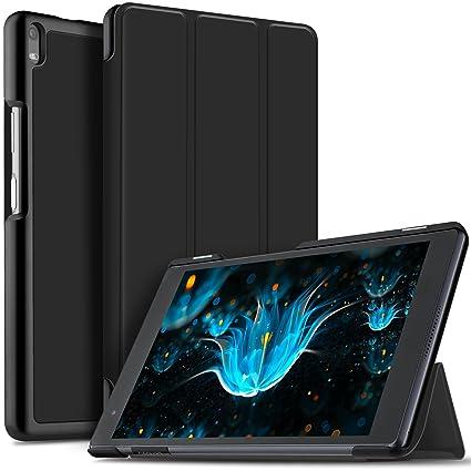 quality design ca52b d844e IVSO Lenovo Tab 4 8 PLUS Case Slim Smart Cover Case for Lenovo Tab 4 8 PLUS  8 inch Tablet (Black)