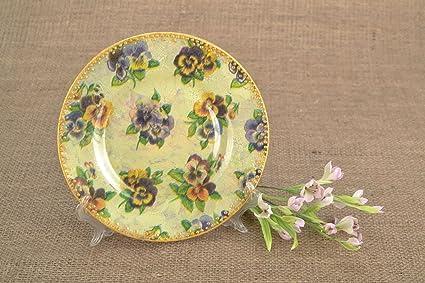 Amazon Com Decorative Wall Plate Quot Violets Quot Home