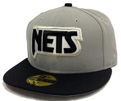 2ef243609b88 New Era HWC New Jersey Nets Gray   Black Fitted Cap (7 1 4) at ...