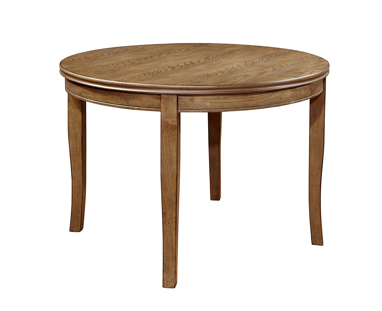 Furniture of America Dekina Transitional Round Dining Table, Natural Finish
